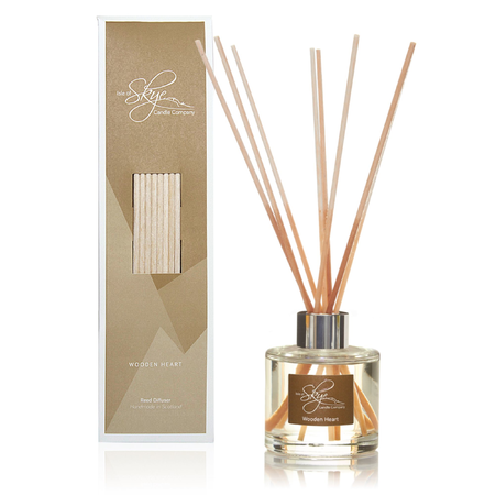 WOODEN HEART REED DIFFUSER