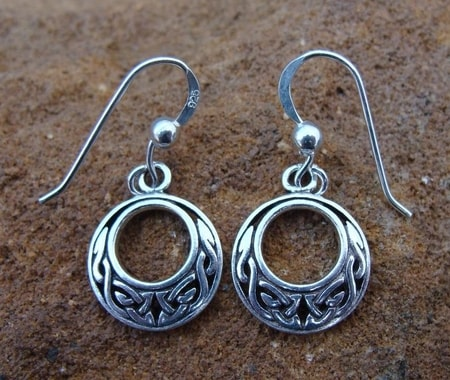 ROUND KNOTTED EARRINGS, silver