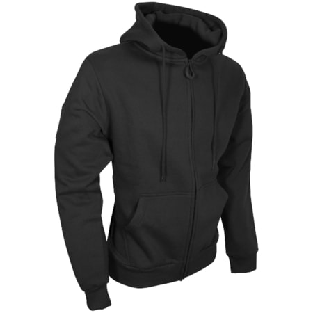 TACTICAL ZIPPED HOODIE, BLACK
