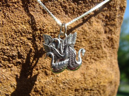 CHILDREN OF LIR, silver necklace, Ag 925