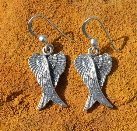 WINGS, silver earrings, Ag 925