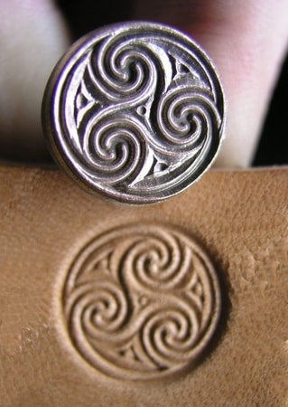 CELTIC TRISKELE, leather stamp