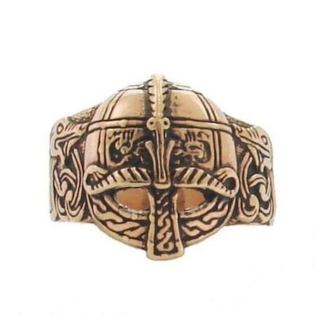 VIKING HELM BRONZE RING
