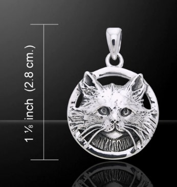 Celtic cat sterling silver bracelet wulflund silver cat pendant silver 925 mozeypictures Image collections