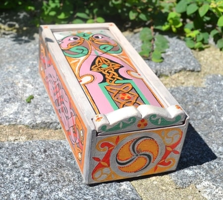 BOOK OF KELLS, Celtic Wooden Box, replica