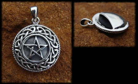 PENTACLE, silver aroma pendant, Ag 925