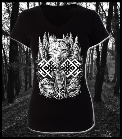 WOLF WARRIOR, Slavic ladies T-Shirt