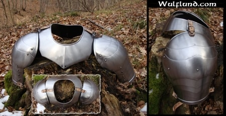 GORGET AND PAULDRONS - ARMOR PARTS - ARMOUR PARTS