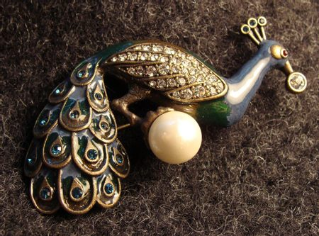 PEACOCK, costume pin