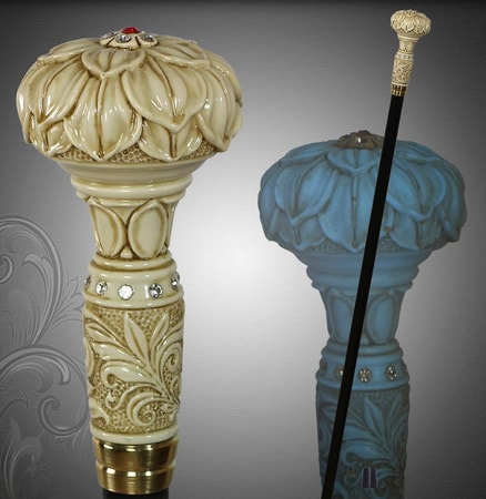 LOTUS - Walking Stick, Cane NIGHT GLOW Effect!
