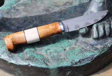 Finnish Damascus steel knife Viking
