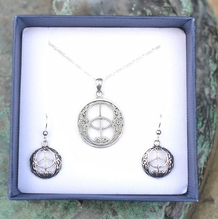 CHALICE WELL, jewelry set, sterling silver
