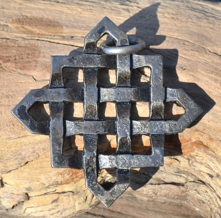 CELTIC STAR, forged steel pendant