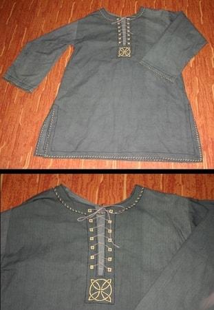 CELTIC TUNIC CLOTHING WEAR DRESS GAUL IRON AGE