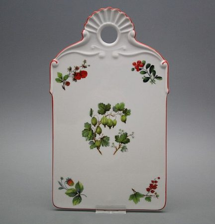 Forest Berries - Antique Porcelain Cutting / Serving Board