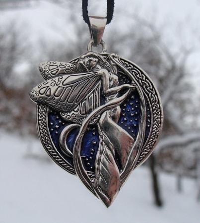 Midnight fairy silver pendant wulflund midnight fairy silver pendant aloadofball Gallery