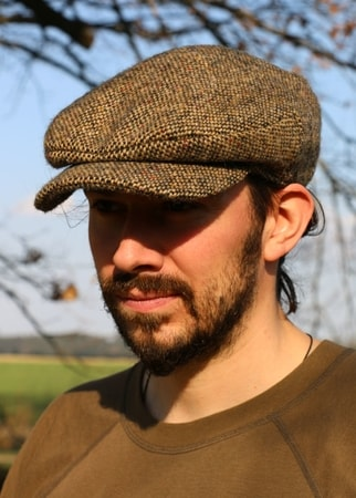 DAITHI Cap Tweed, brown, Ireland