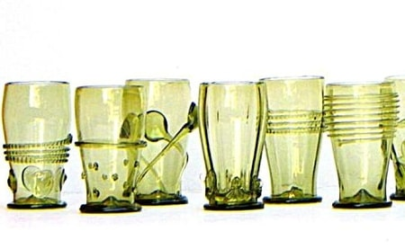 GIFT SET OF SIX 300ml HISTORICAL GLASS CUPS