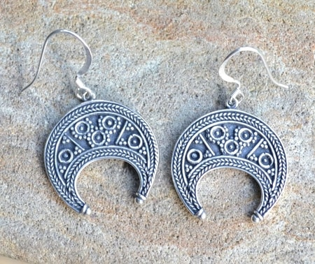 LUNITSA - EARRINGS, Great Moravian Empire, silver 925