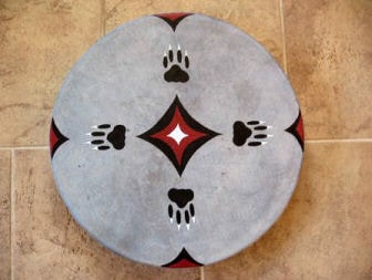 SHAMAN INDIAN DRUM, WOLF TRACK and the STARS