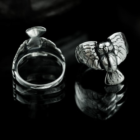 OWL, silver ring