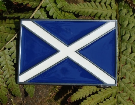 Belt Buckle, FLAG OF SCOTLAND