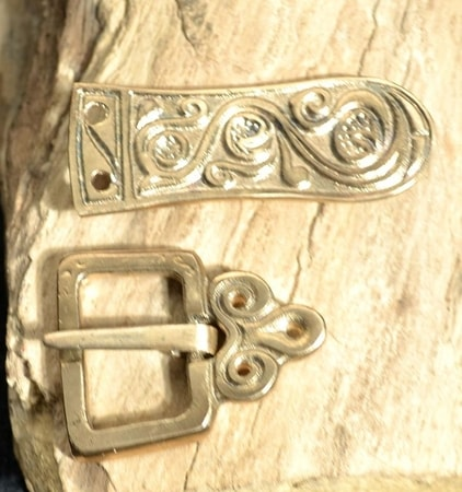 SLAVIC BELT FITTINGS, bronze, replica
