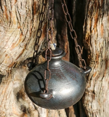Medieval Hanging Oil Lamp