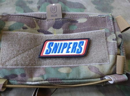SNIPERS, 3D velcro patch