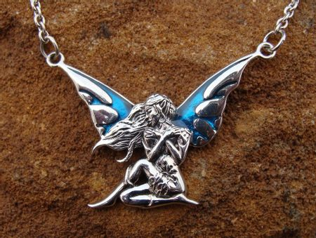WINGED FAIRY, silver necklace, FAIRY TALE JEWELS