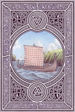 DRAKKAR, Viking Ship, pagan poster