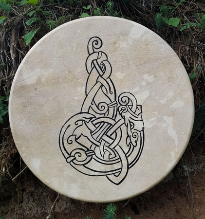 CELTIC WOLF, Shamanic Frame Drum