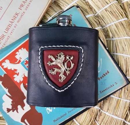 Hip Flask, Kingdom of Bohemia - Lion