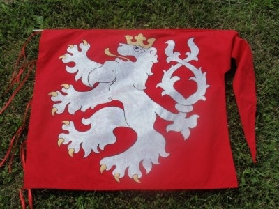 CUSTOM MADE HISTORICAL BANNER CZECH LION