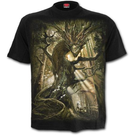 Dragon forest t shirt black for Places that print pictures on shirts