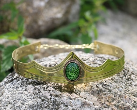 Dragon Eye - Medieval Crown, brass