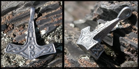 THOR HAMMER with inscription THOR