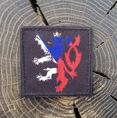 Czech Lion - black, Velcro Patch