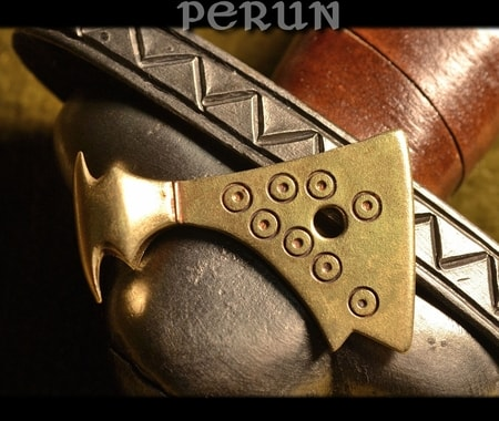 AXE OF PERUN, brass Slavic talisman