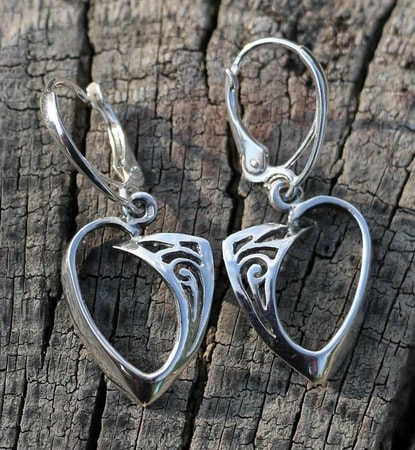 ROWAN, Celtic sterling silver earrings