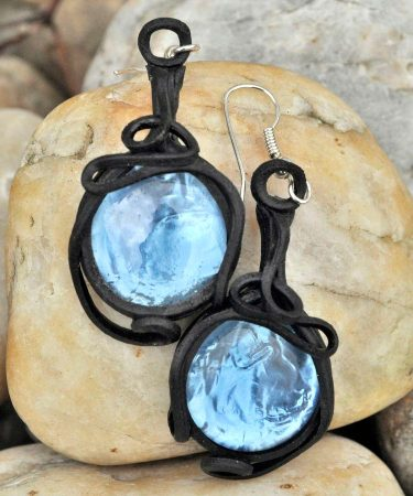 BLUE GLASS - earrings
