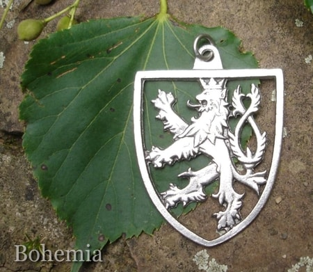 COAT OF ARMS - BOHEMIA - pendant