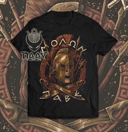 MOLON LABE - SPARTA, T-shirt, colored, Naav