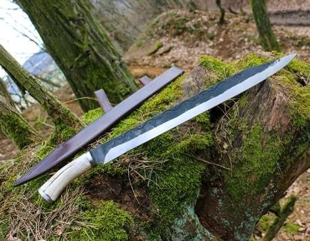 dagur forged viking scramasax   wulflund