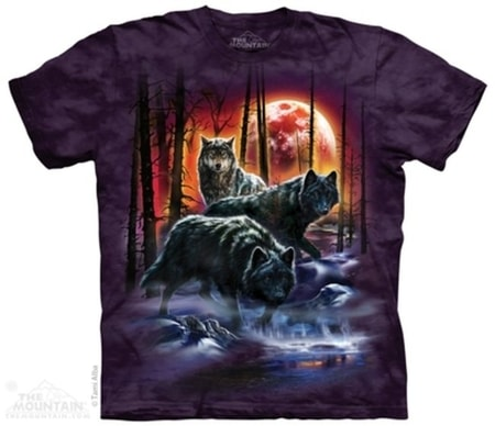 Fire & Ice Wolves - Wolf T-Shirt The Mountain