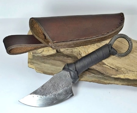 QUINN, forged Celtic knife with sheath