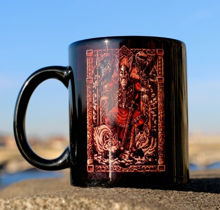 Odin on a Throne, mug