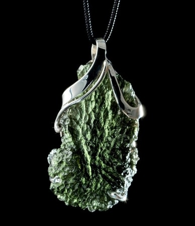 Eris Czech Moldavite Sterling Silver Pendant