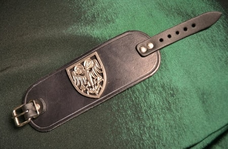 DOUBLE HEADED EAGLE, leather bracer