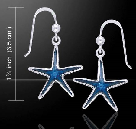 SEA STAR silver earrings, Ag 925